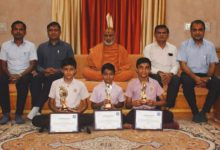 Shining achievement in painting of three students of Vedroad Swaminarayan Gurukul