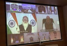 Extensive discussion with Chief Minister Shri Vijaybhai Rupani on the status of corona in Gujarat and vaccination strategy through video conference of Prime Minister Shri Narendrabhai Modi