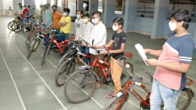 Bicycle gift to 21 students under 'Project Recycle'